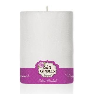 【O.W.N.對環境友善的蠟燭】白雪柱狀蠟燭 Thai Orchid 泰國蘭花(香氛.精油.蠟燭)