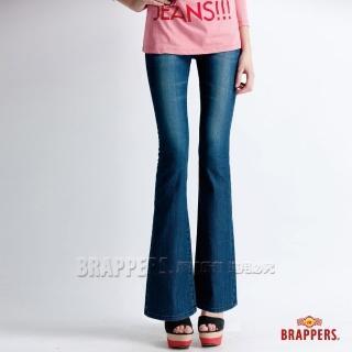 【BRAPPERS】女款 新美腳 Royal 系列-彈性鑲鑽小靴型褲(藍)