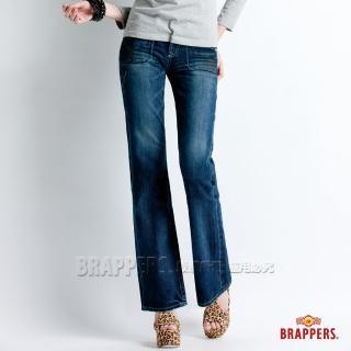 【BRAPPERS】女款 Lady Vintage 系列-女用小靴型褲(藍)