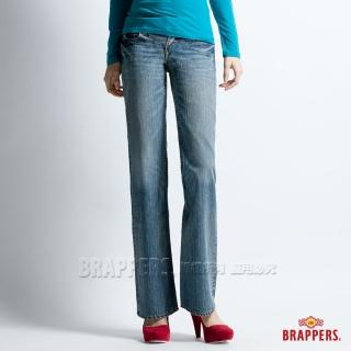 【BRAPPERS】女款 個性系列-漸層洗色大靴型褲(淡藍)