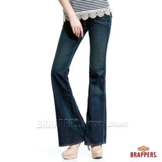 【BRAPPERS】女款 個性系列-純棉漸層洗色大靴型褲(深藍)