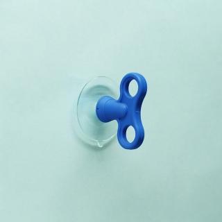 【dipper】無痕強力吸盤壁掛雙入(寶藍色)