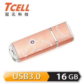 【TCELL 冠元】USB3.0 16GB 絢麗粉彩隨身碟(玫瑰金)