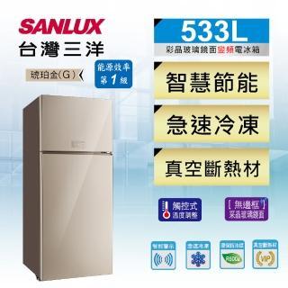 【SANLUX 台灣三洋】533公升直流變頻雙門冰箱(SR-C533BVG)