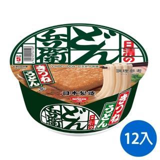 【NISSIN 日清】日清 咚兵衛油豆腐烏龍麵 95gx12碗(日清泡麵)