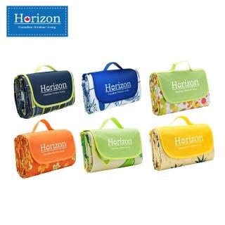 【Horizon 天際線】195x200cm 加大防潮沙灘野餐墊 - 附肩背收納袋(多款任選)