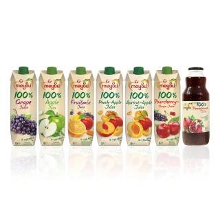 【meysu】美愫100%純天然果汁1000ML(吳鳳推薦綜合7入組)