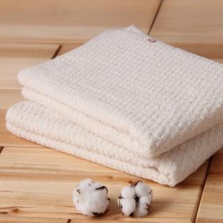 【Marushin 丸真】日本製今治認證原棉無染毛巾2件組(34X80cm)