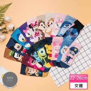 【阿華有事嗎】韓國襪子 迪士尼全身短襪 K0406(品質保證 韓國少女襪 韓妞必備)