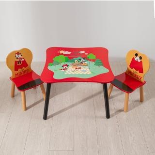 【kikimmy】迪士尼正版授權一桌二椅組(玩具總動員、米奇米妮款、奇奇蒂蒂木椅兩入)
