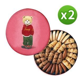 【2021新年限定】Jenny Bakery珍妮小熊四味綜合曲奇餅320g 2入組(春節禮盒)