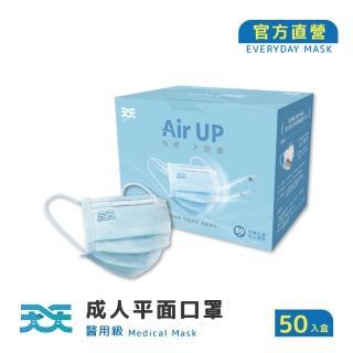 【天天】成人平面口罩-藍色(50入/盒)