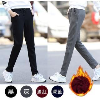 【Everyday select】韓版加絨運動休閒長褲(保暖褲)