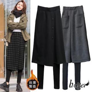【buyer 白鵝】保暖 溫差刷毛休閒假兩件褲裙(多款任選)