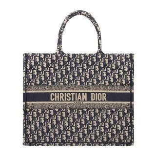 【Dior 迪奧】BOOK TOTE 經典 Dior Oblique 刺繡托特包