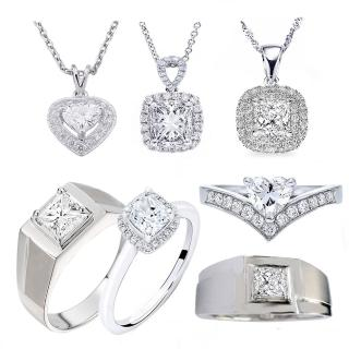 【Vividventure 亞帝芬奇】GIA 50分 FSI2 2VG 鉑金台 鑽石項鍊 圍繞(二款任選)