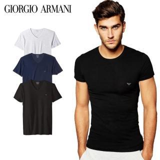 【EMPORIO ARMANI】短袖T恤3入/組(4款可選)