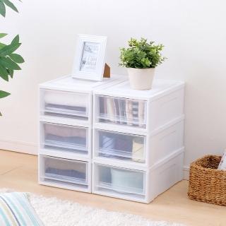 【IRIS】透明/多色可選-加大抽屜式收納箱3入裝 NSBC500(馬卡龍色/繽紛/組合式收納箱/可堆疊/加大收納)